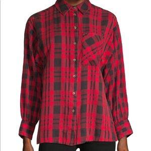 NWT Topshop Check Shirt